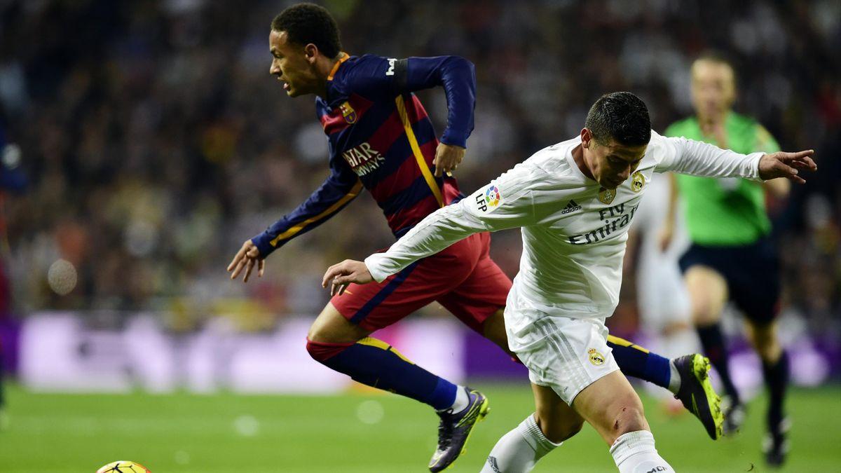 Neymar y James Rodríguez, Barcelona vs Real Madrid