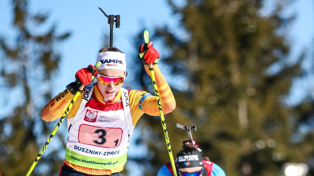 Vanessa Voigt bei der Biathlon-EM 2021