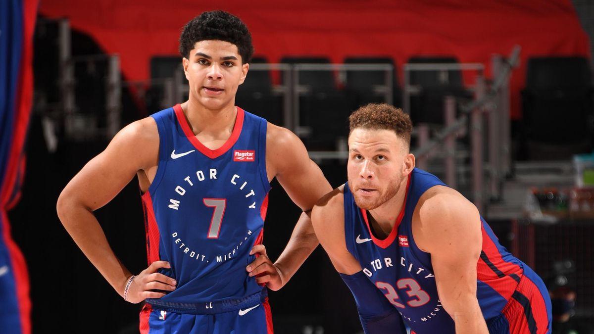 Killian Hayes et Blake Griffin - Detroit Pistons NBA