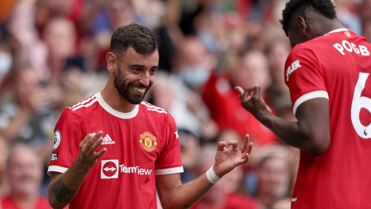 Manchester United a câștigat categoric împotriva lui Leeds după o prestație fantastică a lui Bruno Fernandes și Pogba