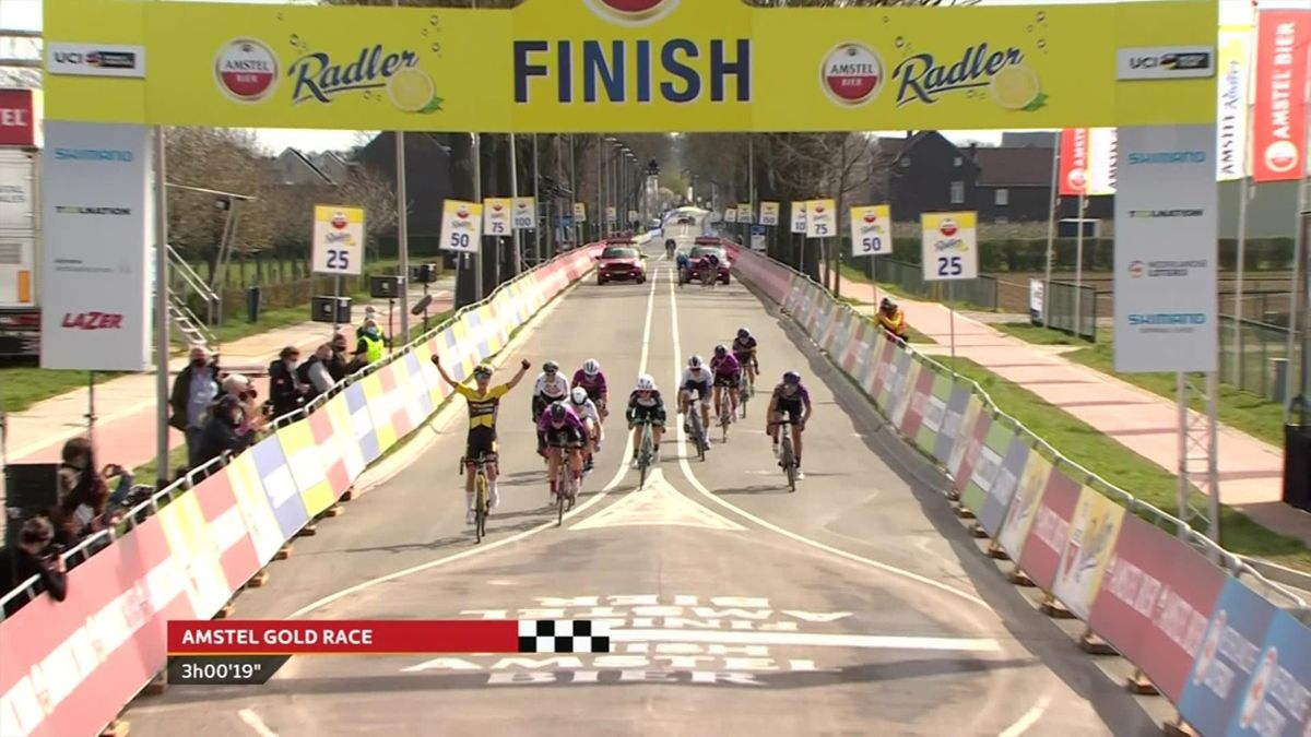 'Phenomenal sprint' - Vos storms to Amstel Gold victory