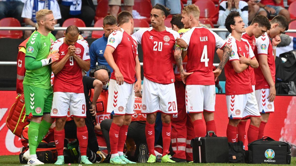 Drama um Christian Eriksen: Die dänischen Nationalspieler sind ergriffen