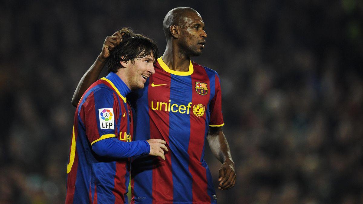 Messi, Abidal - Barcellona-Atlético Madrid - Liga 2010/2011 - Getty Images