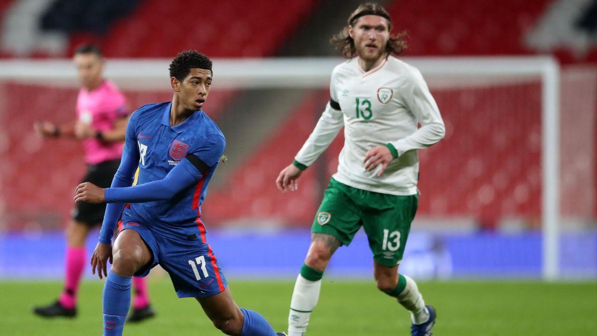Jude Bellingham gab am Donnerstagabend im Länderspiel gegen Irland sein Debüt für die englische Nationalmannschaft