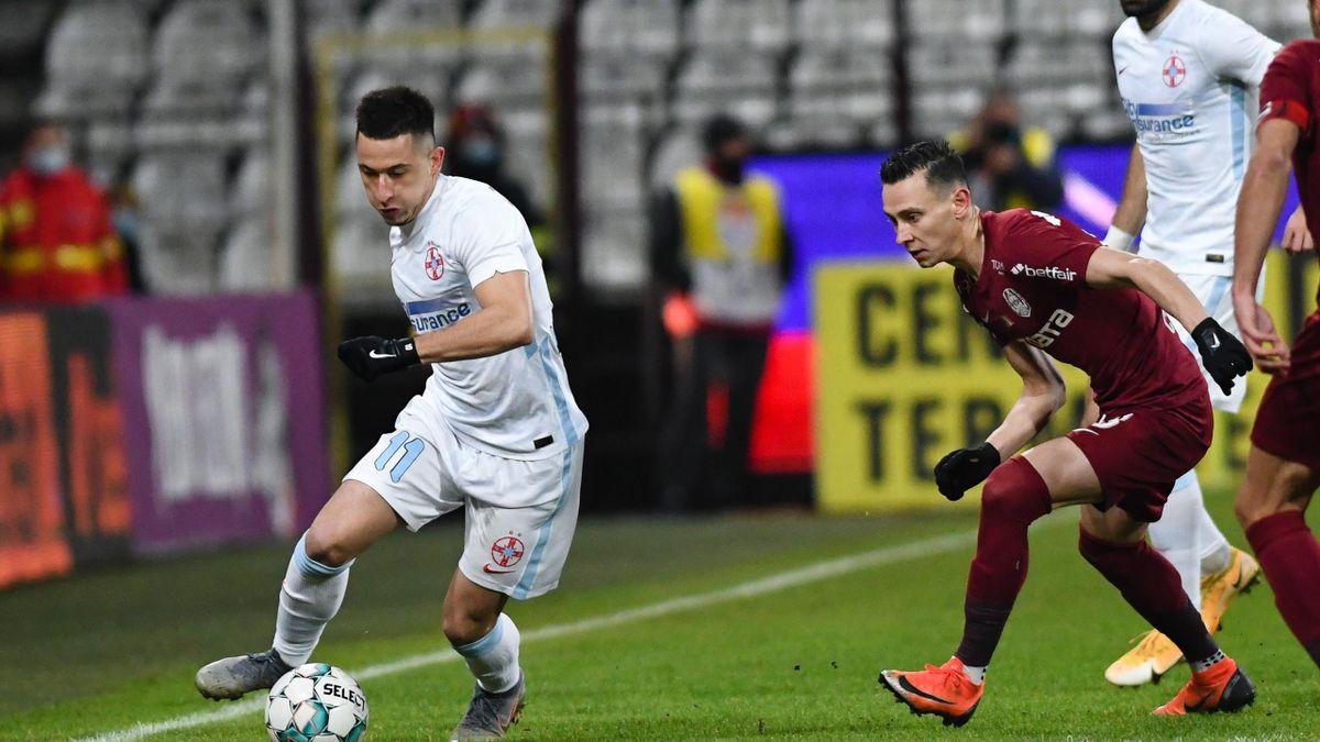 Olimpiu Moruțan, într-un meci cu CFR Cluj