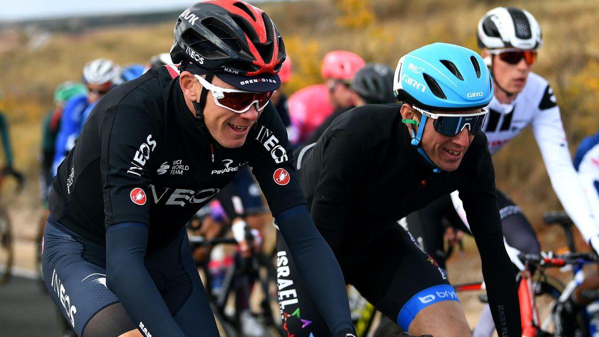 Chris Froome und Dan Martin bei der Vuelta
