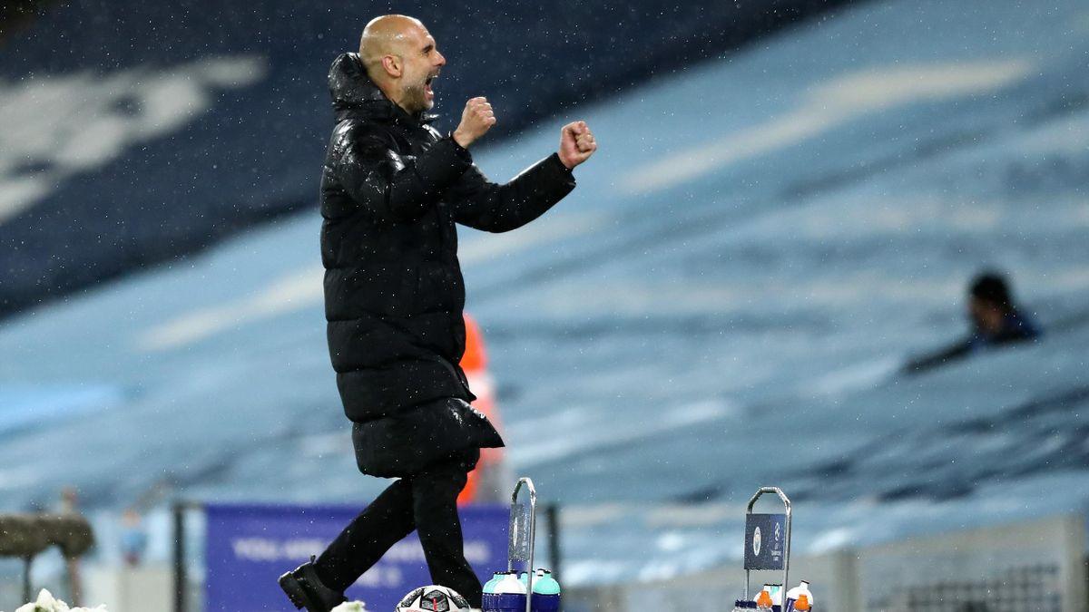 Pep Guardiola bejubelt den Finaleinzug mit Manchester City