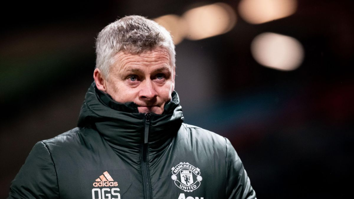 Ole Gunnar Solskjaer walks off at the end of the Premier League match between Manchester United and West Ham United at Old Trafford on March 14, 2021 in Manchester, United Kingdom.