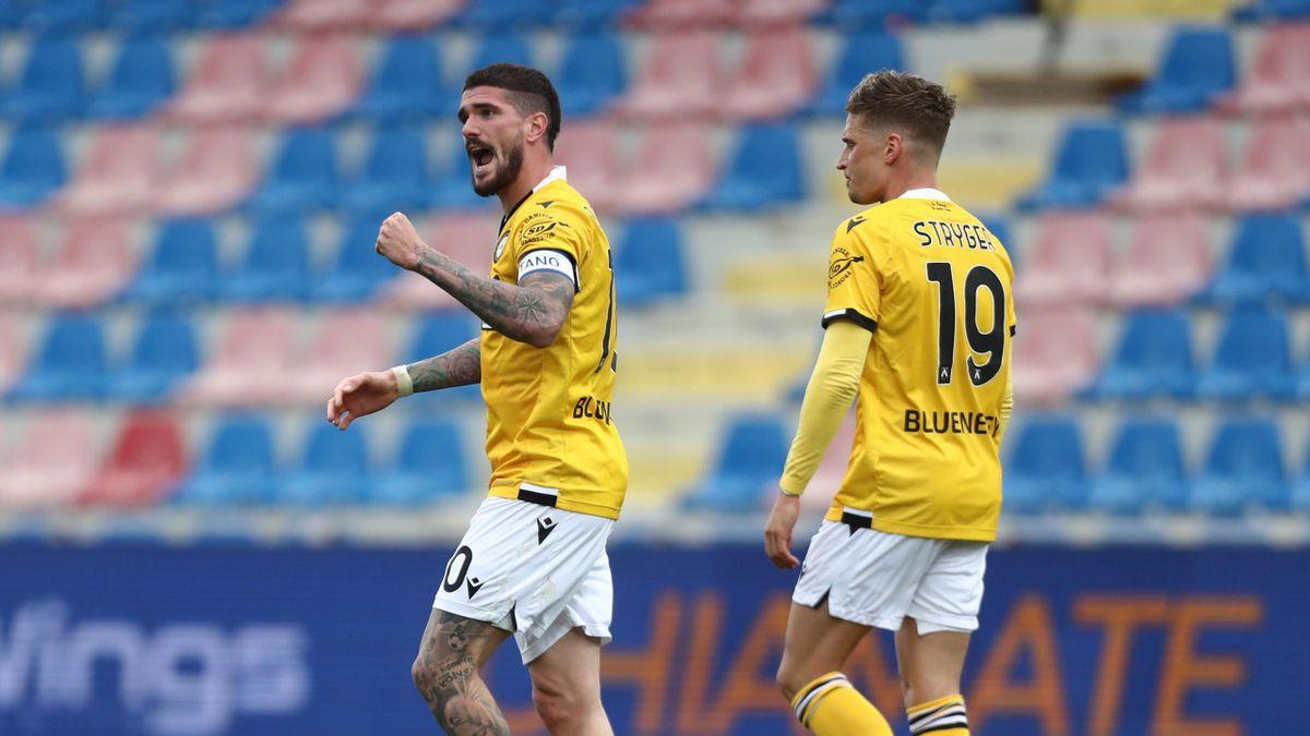 L'esultanza di Rodrigo De Paul in Crotone-Udinese