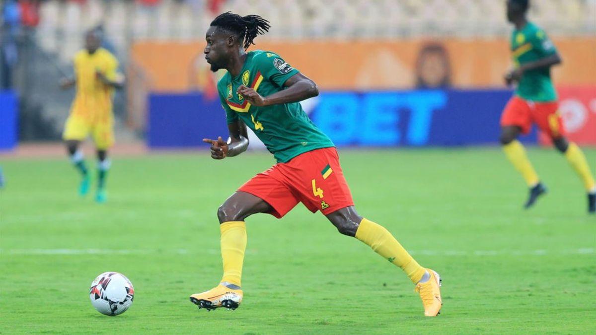 Pierre Etame lors de Cameroun - Zimbabwé au Championnat d'Afrique des Nations le 16 janvier 2021 à Yaoudé