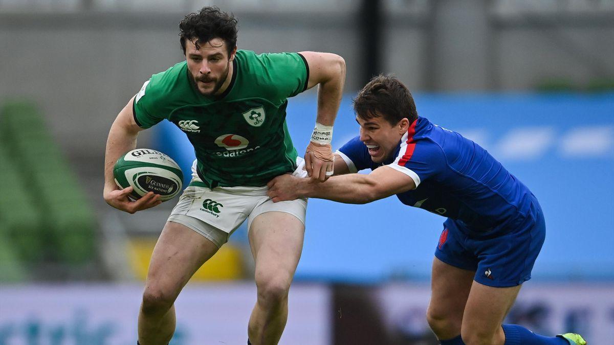 Irlande - France : Robbie Henshaw face à Antoine Dupont