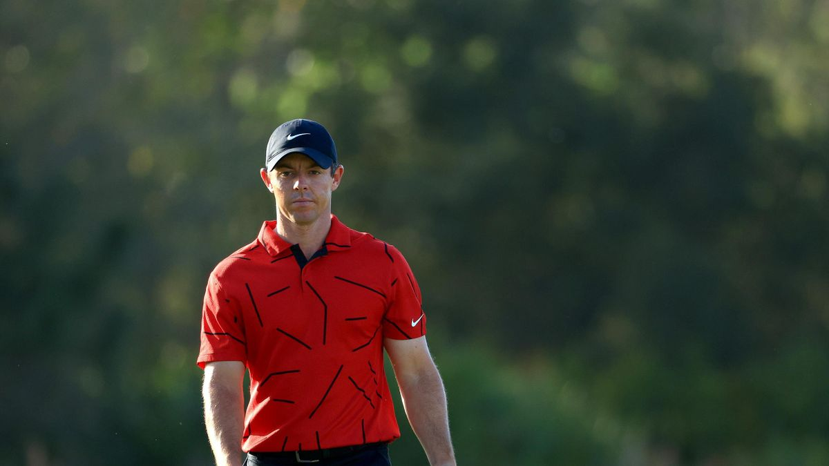 : Rory McIlroy of Northern Ireland walks up the 16th hole during the final round of World Golf Championships-Workday Championship at The Concession on February 28, 2021 in Bradenton, Florida.