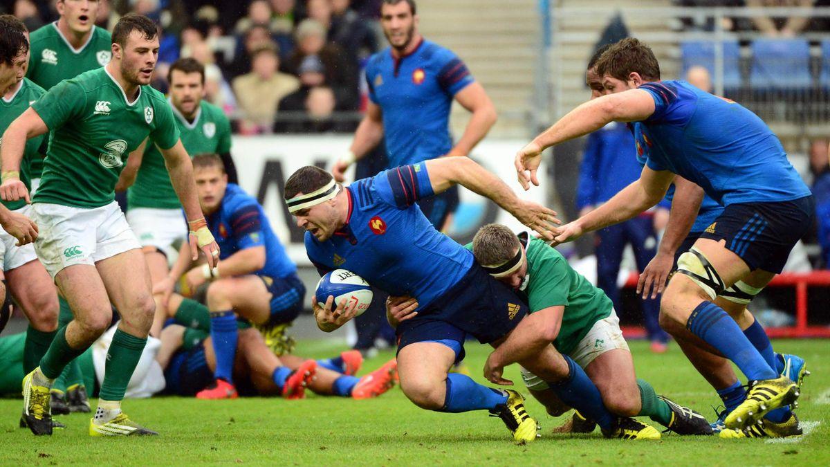 Guilhem Guirado (XV de France) face à l'Irlande - 13 février 2016