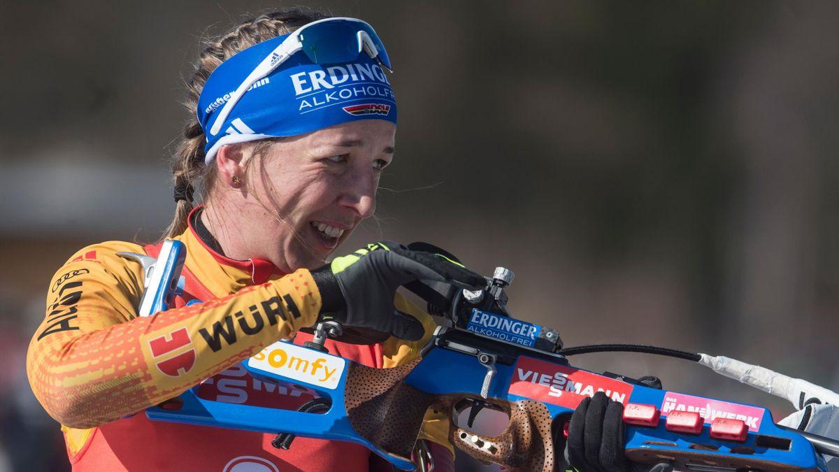Franziska Preuß verfehlte im Sprint von Östersund die Top 20