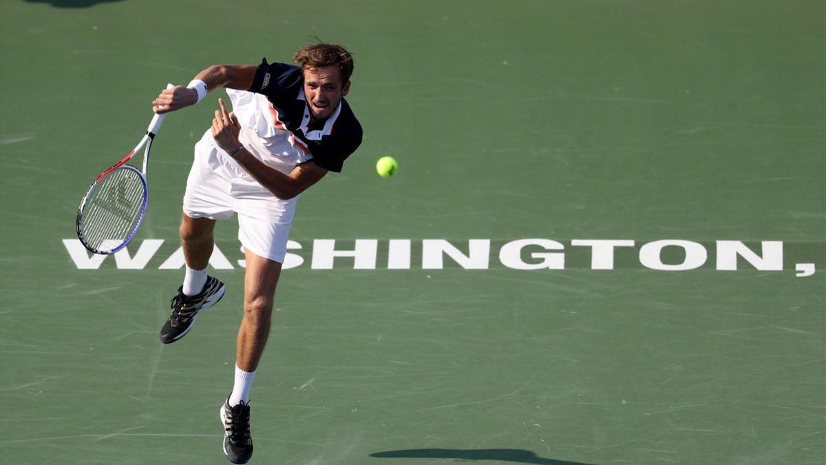 Daniil Medvedev tijdens het ATP-toernooi van Washington D.C. in 2019