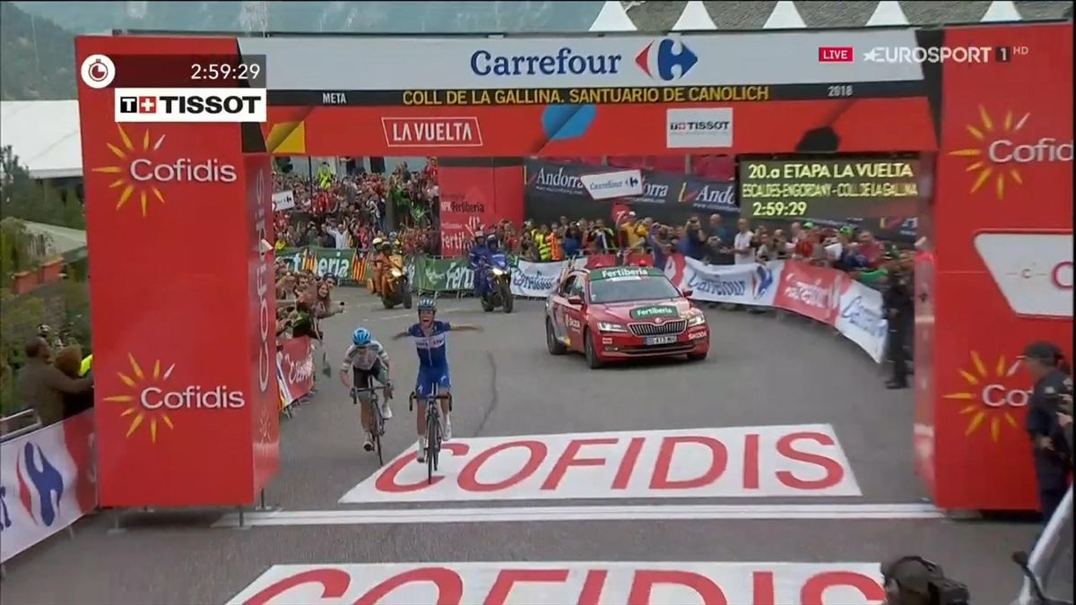 Enric Mas wins stage 20 in Vuelta