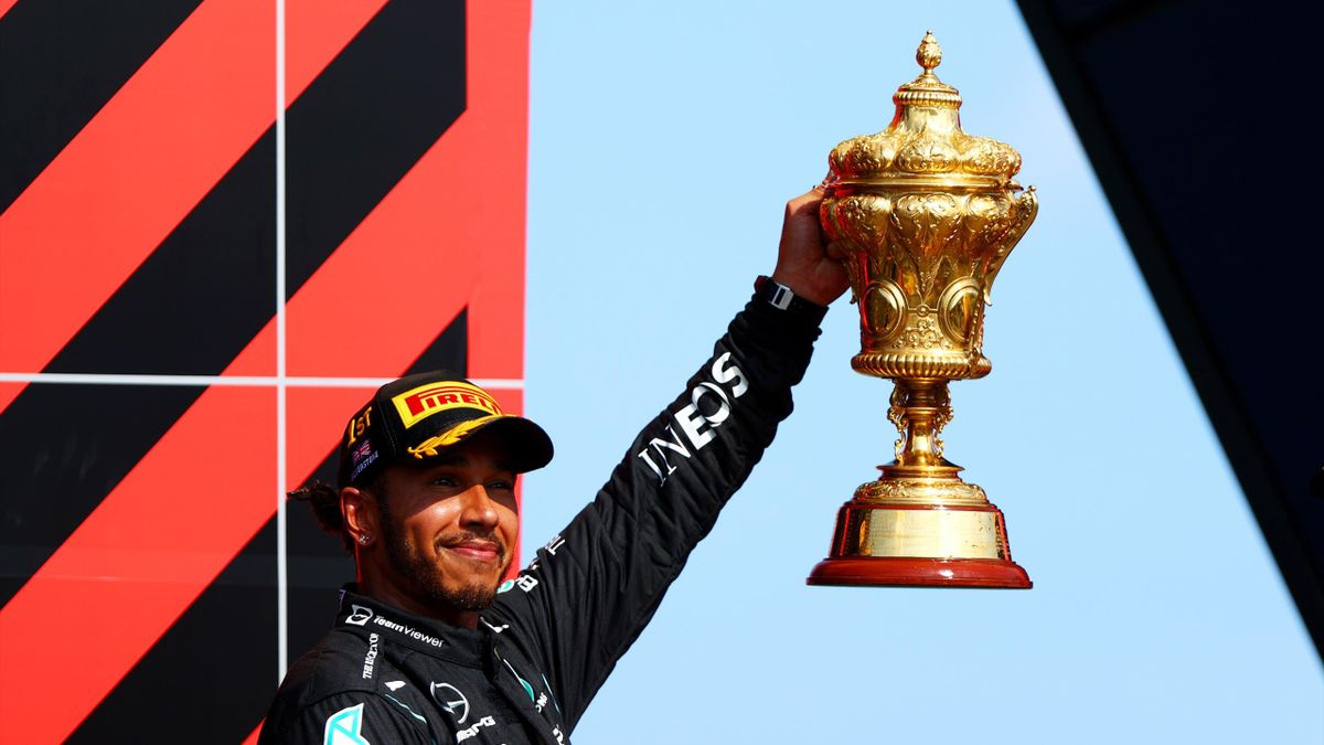 Lewis Hamilton after winning the British Grand Prix