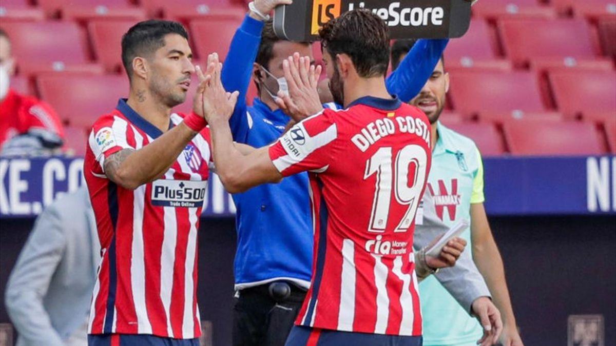 Luis Suarez replaces Diego Costa against Granada