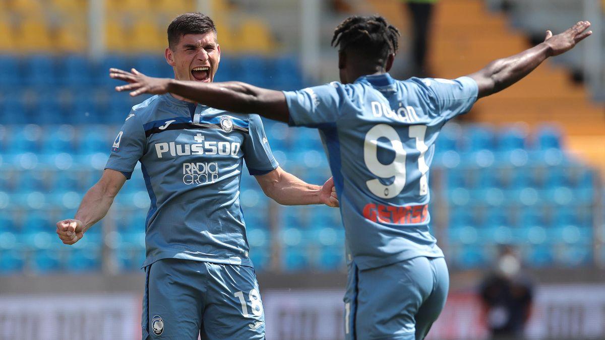 Parma vs Atalanta, Malinovskyi e Zapata