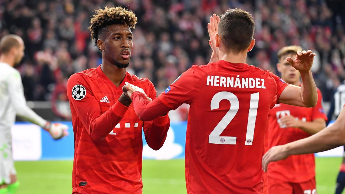 Kingsley Coman (links) und Lucas Hernández (FC Bayern München)