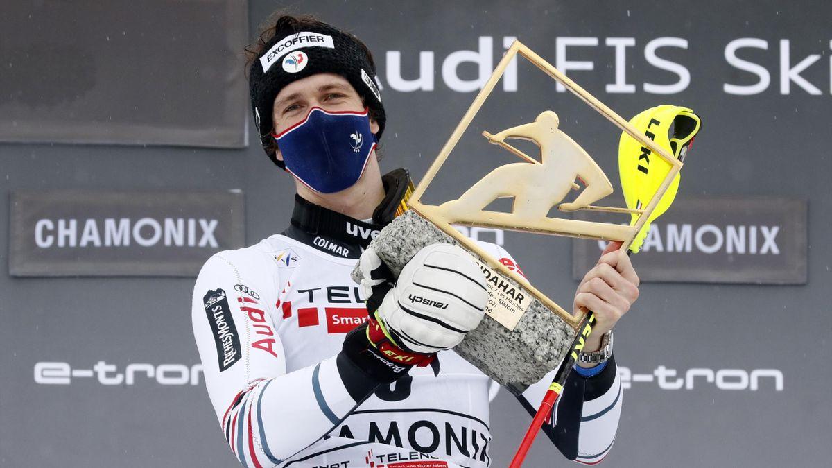 Clément Noël savoure son 7e succès en coupe du monde, à Chamonix le samedi 30 janvier 2020