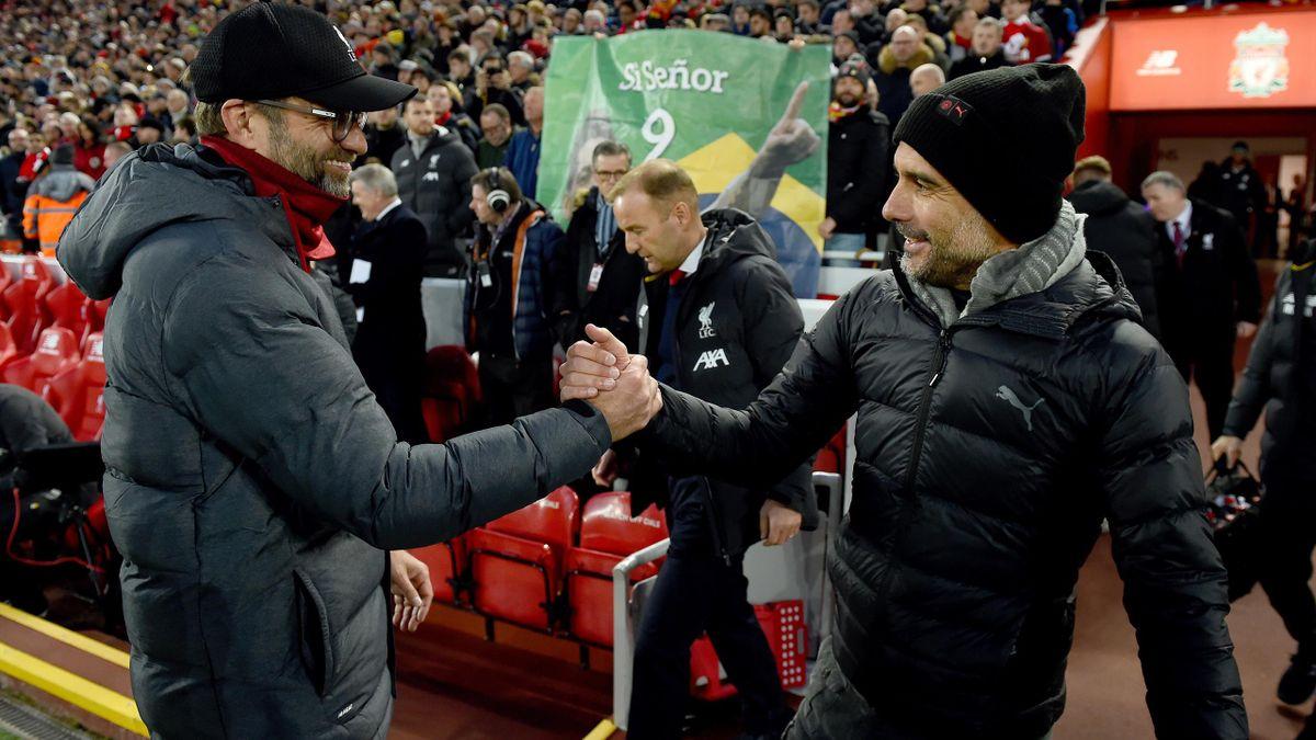 Jürgen Klopp mit Pep Guardiola