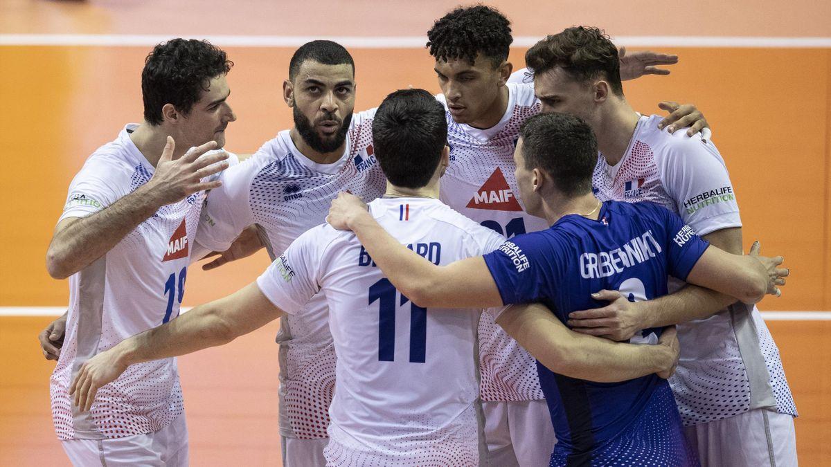 L'équipe de France face à l'Allemagne, vendredi en finale du TQO