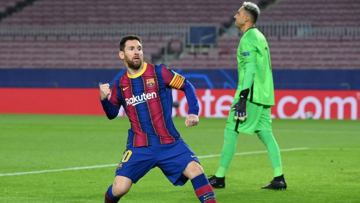 Messi - Barcellona-PSG - Champions League 2020/2021 - Getty Images