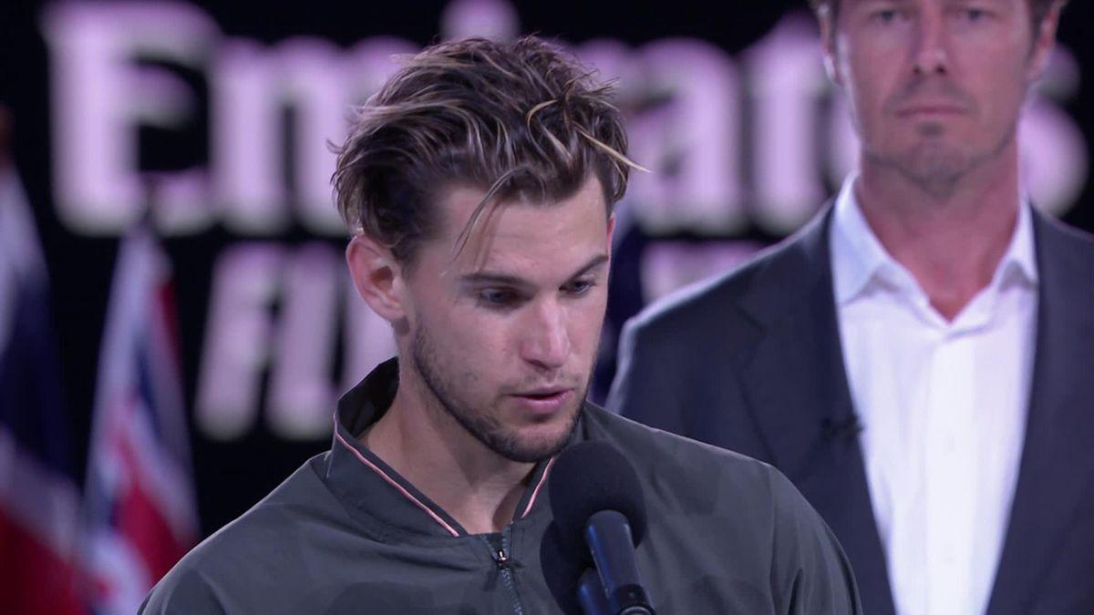 Australian Open: match ball Djokovic - Thiem