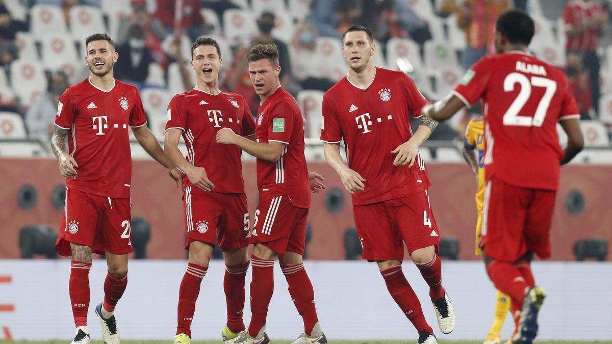 Der FC Bayern bejubelt den Finalsieg bei der Klub-WM gegen Tigres UANL