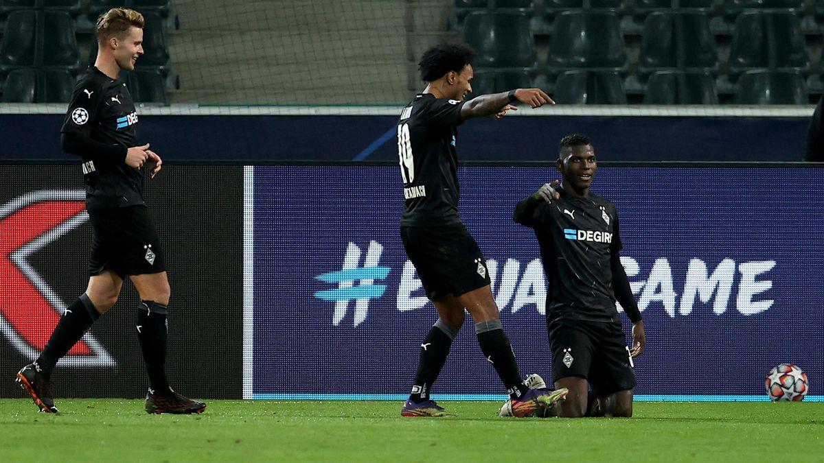 Gladbach jubelt über den 4:0-Erfolg gegen Donezk