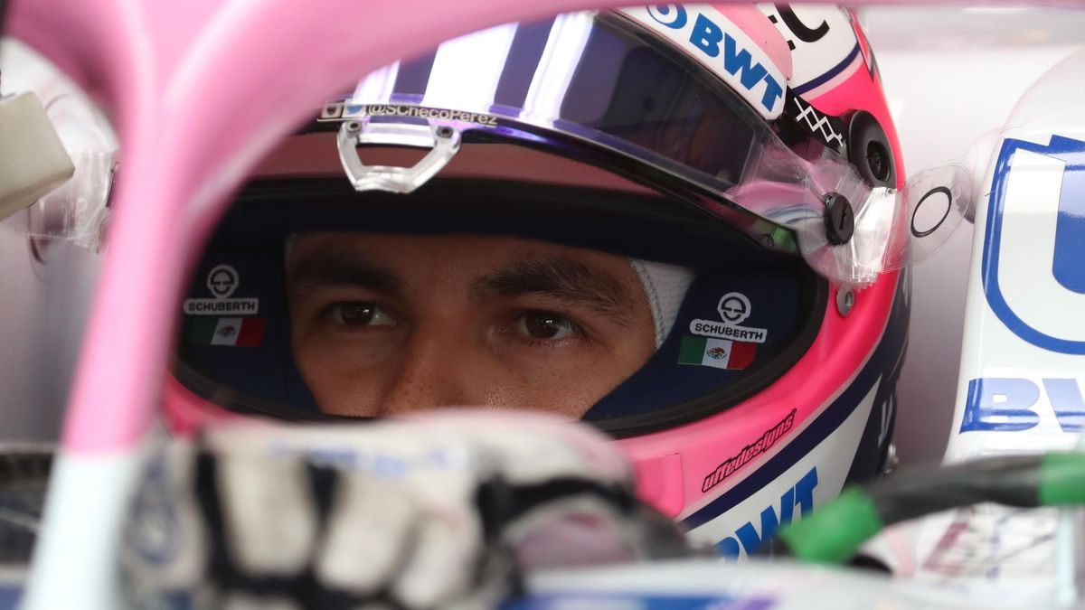 Force India Mercedes's Sergio Perez sits in his car during the practice session of the Formula One Hungarian Grand Prix at the Hungaroring circuit in Mogyorod near Budapest, Hungary, on July 27, 2018
