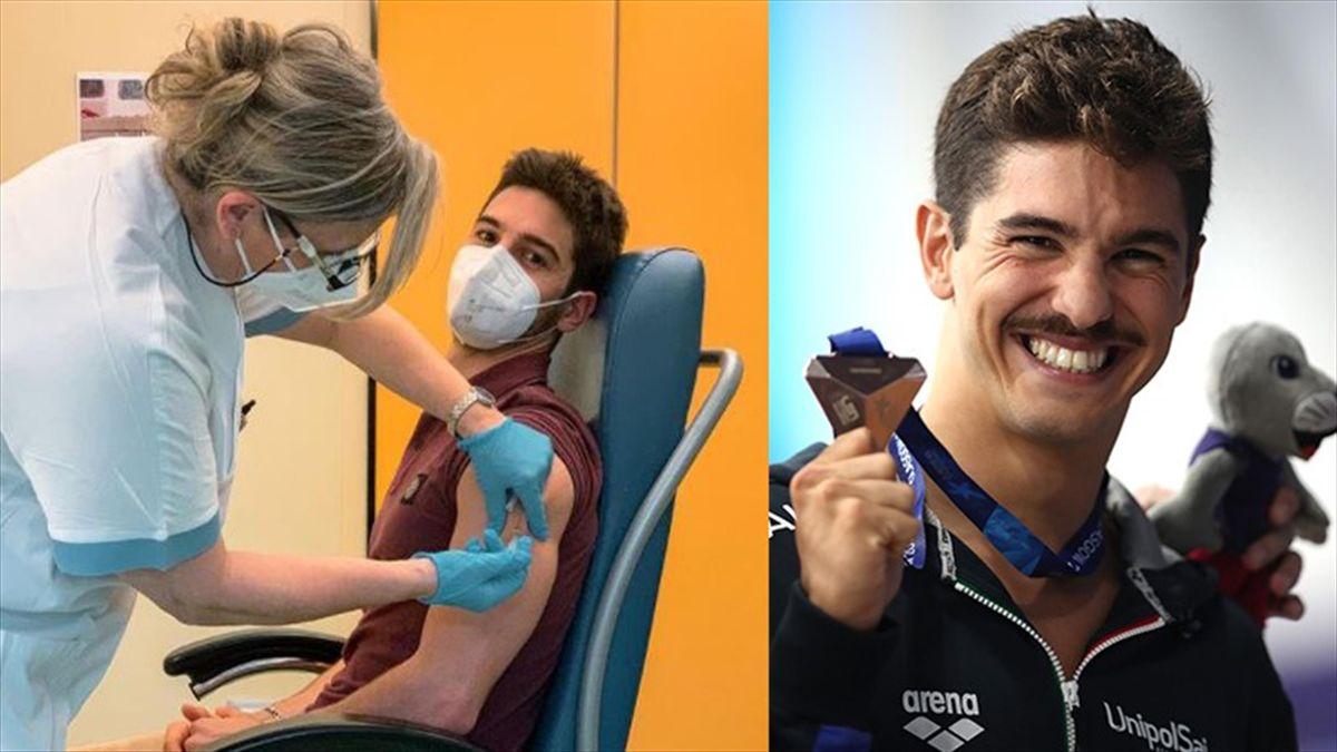 Coronavirus, è il nuotatore Matteo Restivo il primo atleta italiano a vaccinarsi