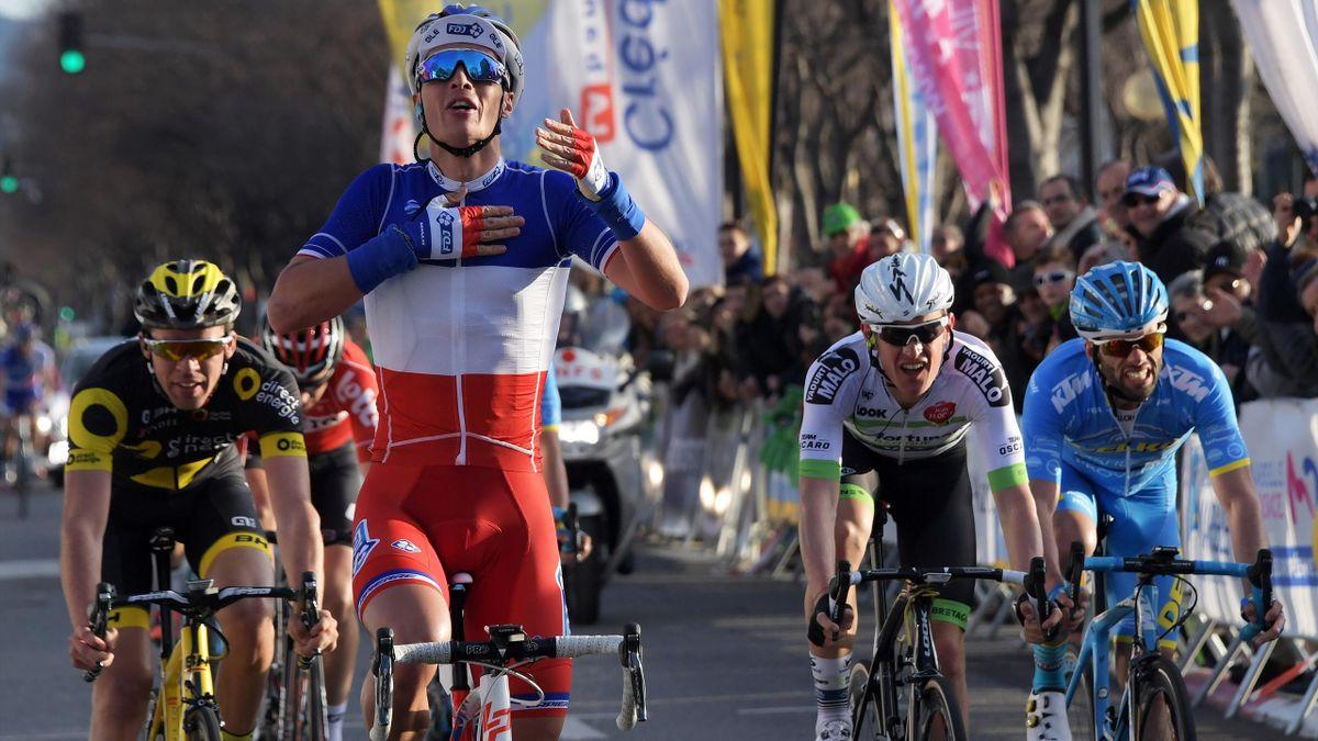 Arthur Vichot (FDJ), vainqueur du Grand Prix de la Marseillaise, le 29 janvier 2017.