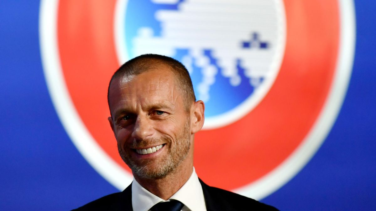 UEFA President Aleksander Ceferin attends a press conference following the UEFA Executive Committee meeting at the UEFA headquarters, The House of European Football on June 17, 2020 in Nyon, Switzerland