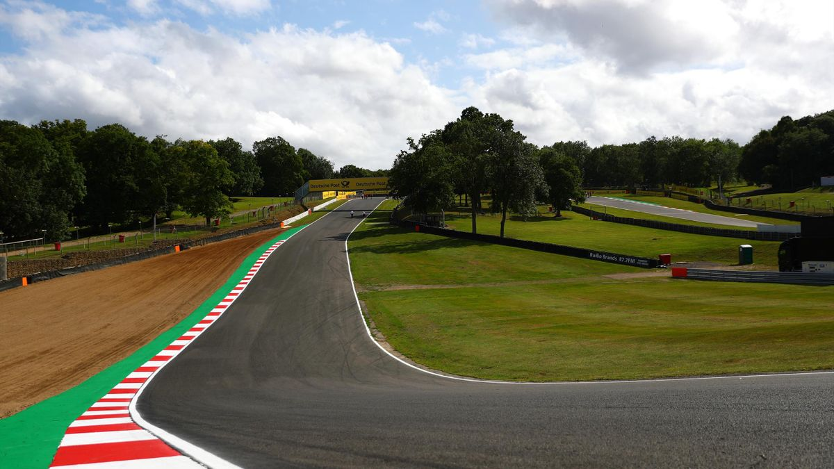 A general view of the circuit during previews for the sixth and final round of the W Series at Brands Hatch on August 09, 2019 in Longfield, England.
