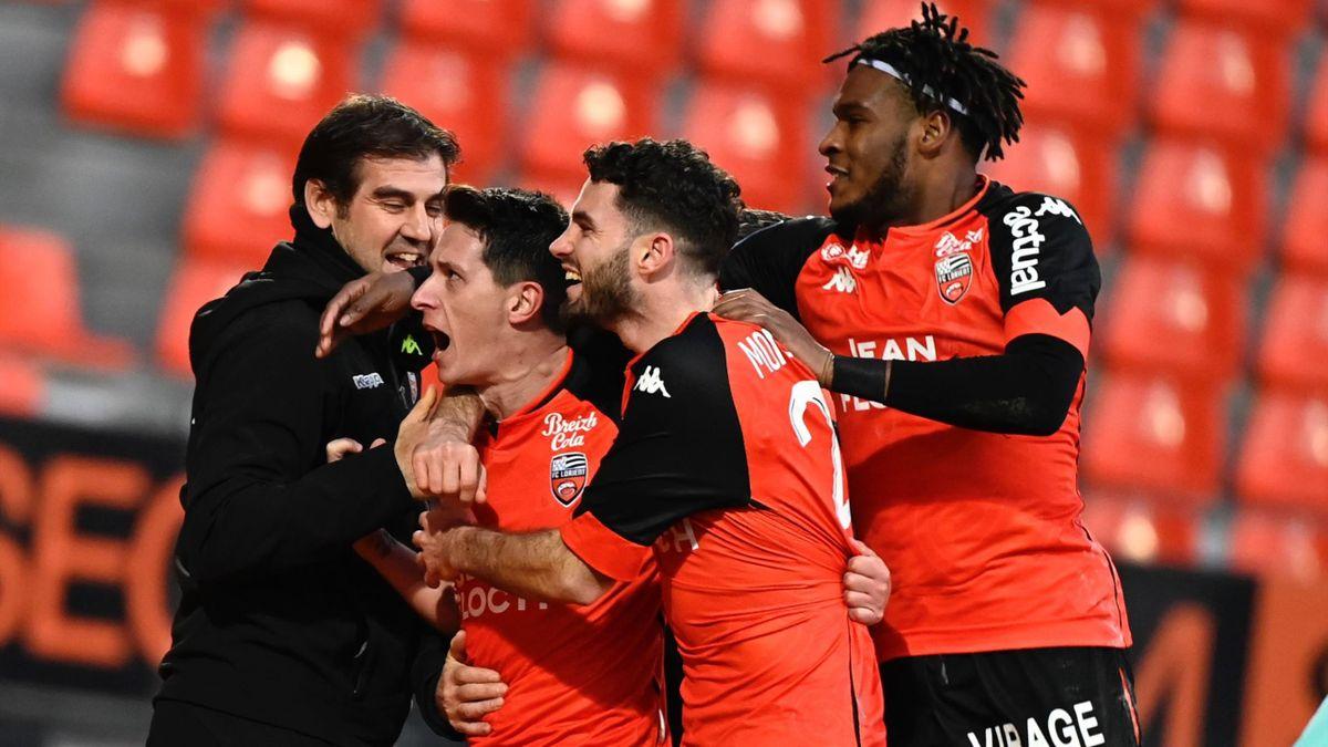 Laurent Abergel, buteur pour Lorient face à Reims
