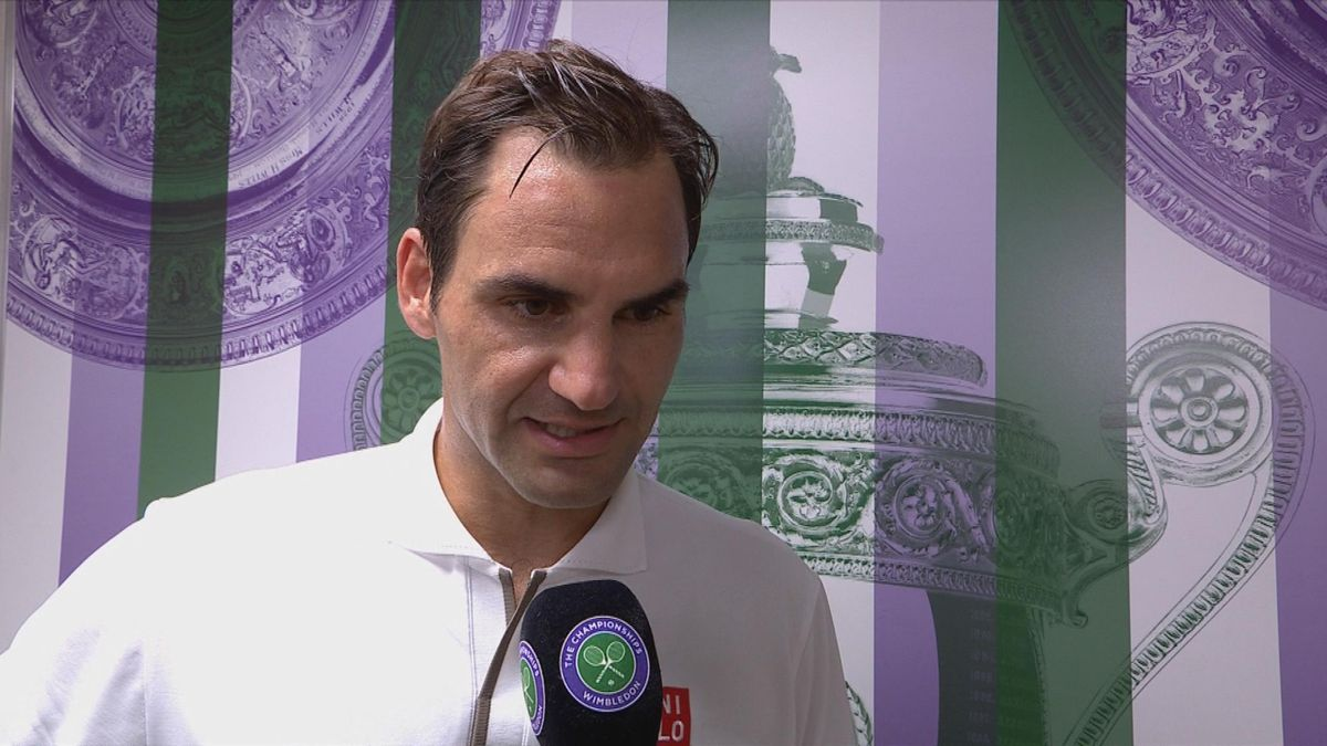 Wimbledon : Day 4 - Federer's interview post match