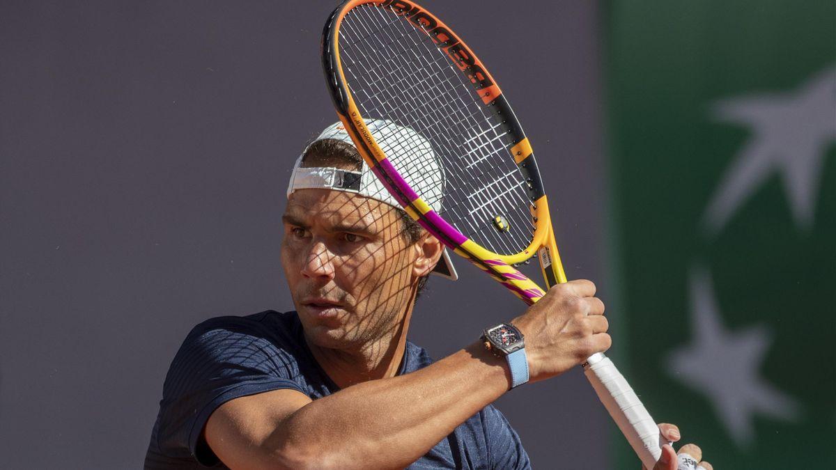 Rafael Nadal avec sa Babolat Pure Aero Rafa