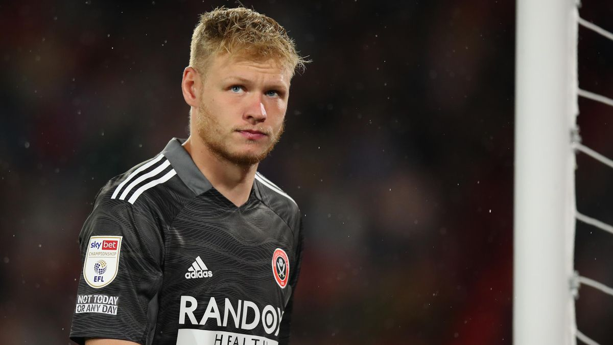 Aaron Ramsdale played in Sheffield United's 1-0 defeat to Birmingham at the weekend