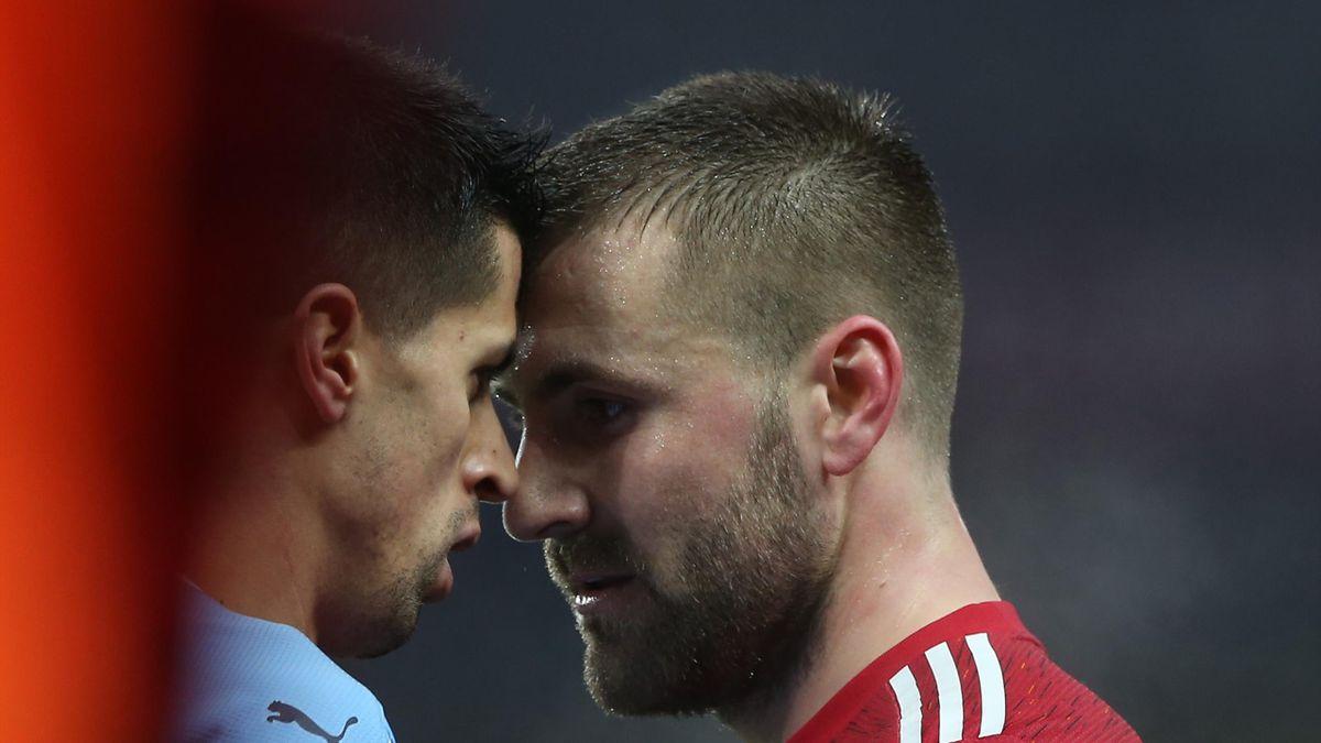 Жоау Канселу и Люк Шоу, «Манчестер Сити» – «Манчестер Юнайтед»