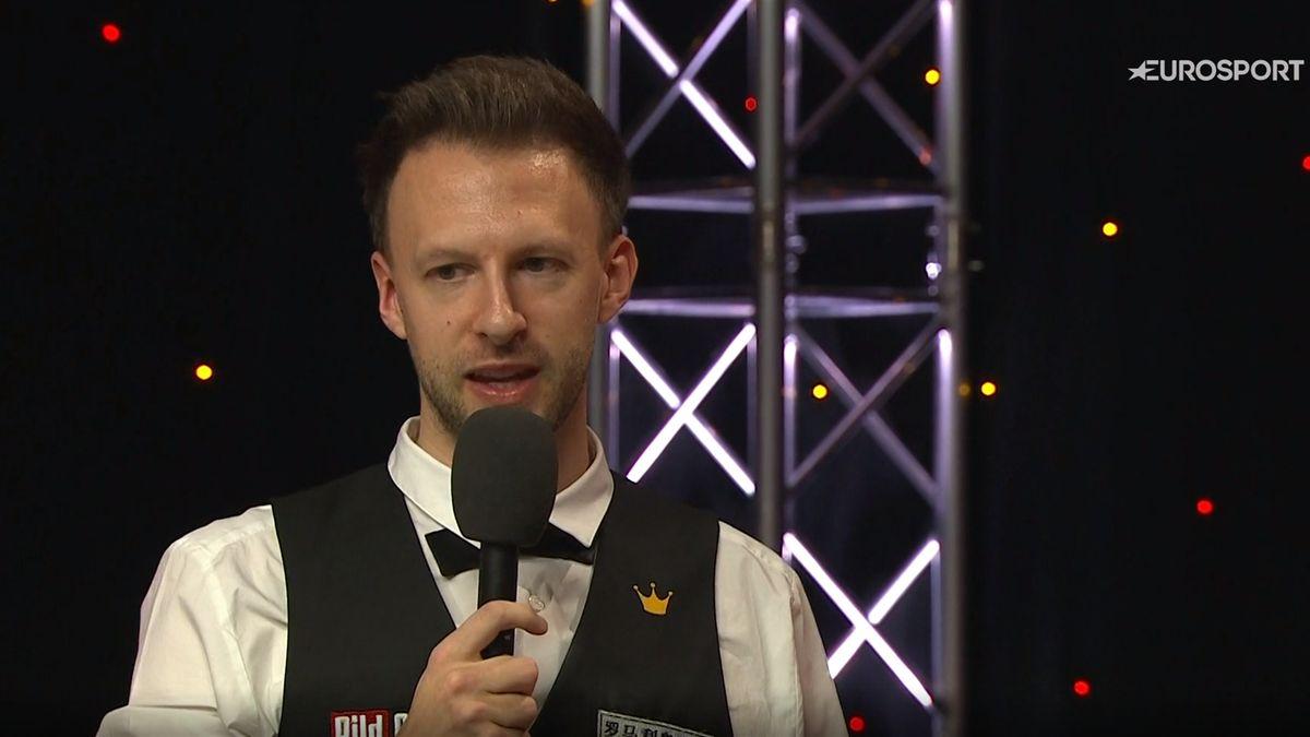Judd Trump after winning the German Masters