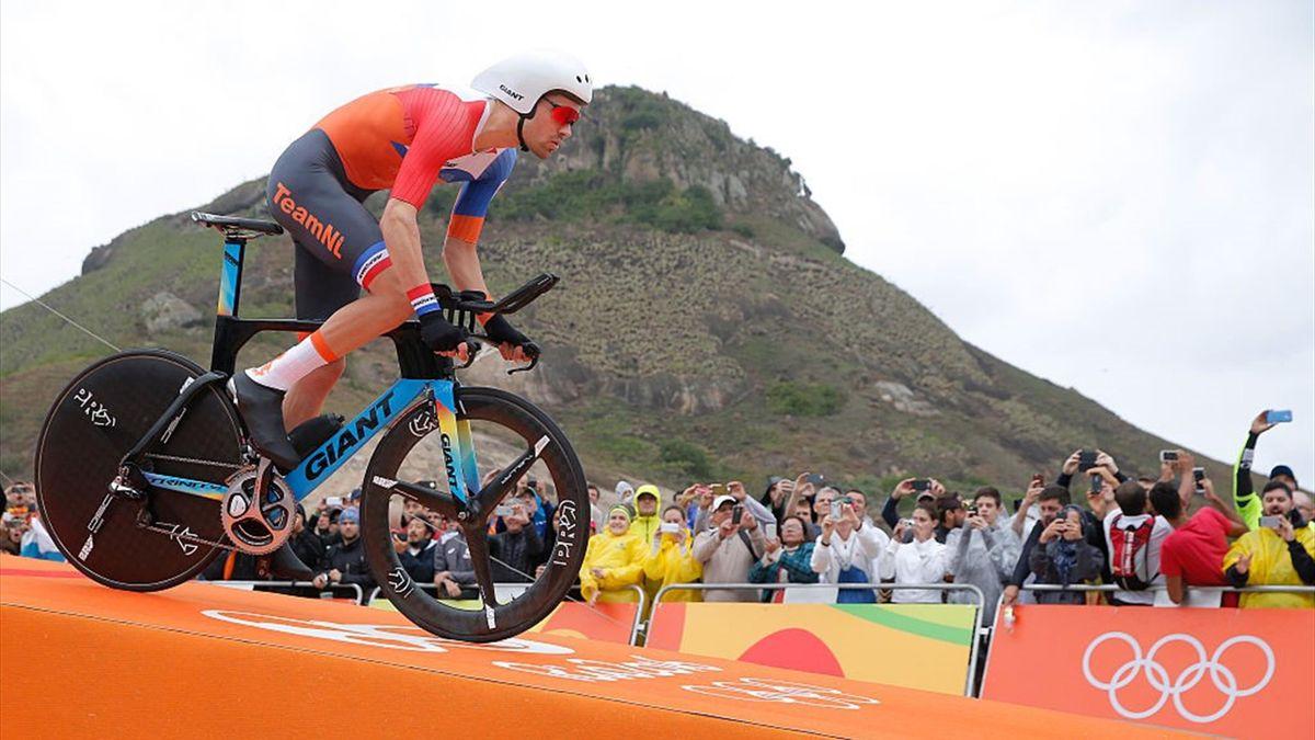 Tom Dumoulin alla prova a cronometro di Rio de Janeiro nel 2016