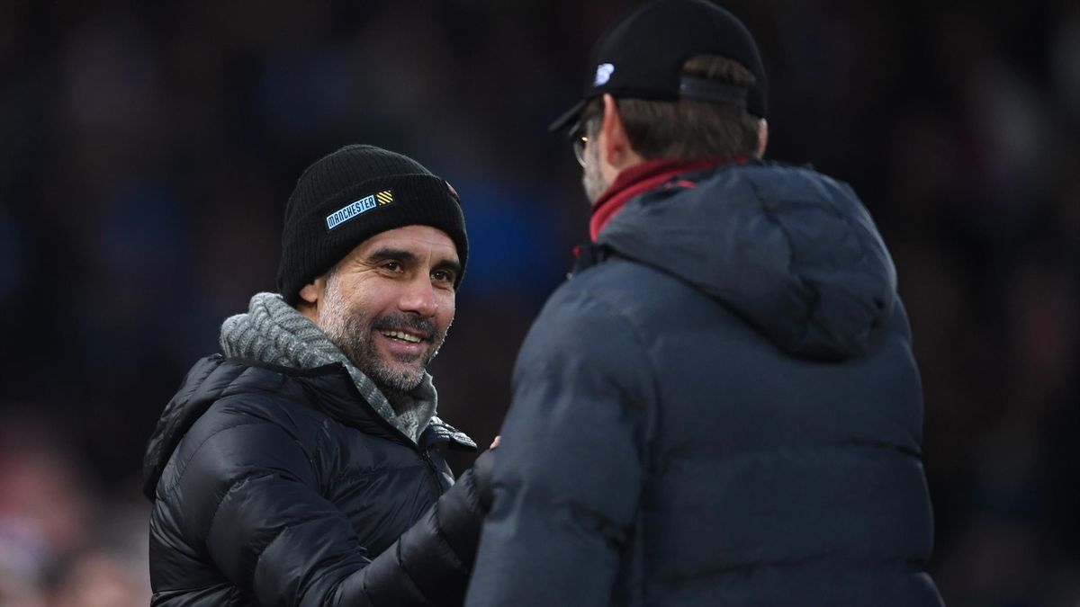 Pep Guardiola (Manchester City) y Jürgen Klopp (Liverpool)