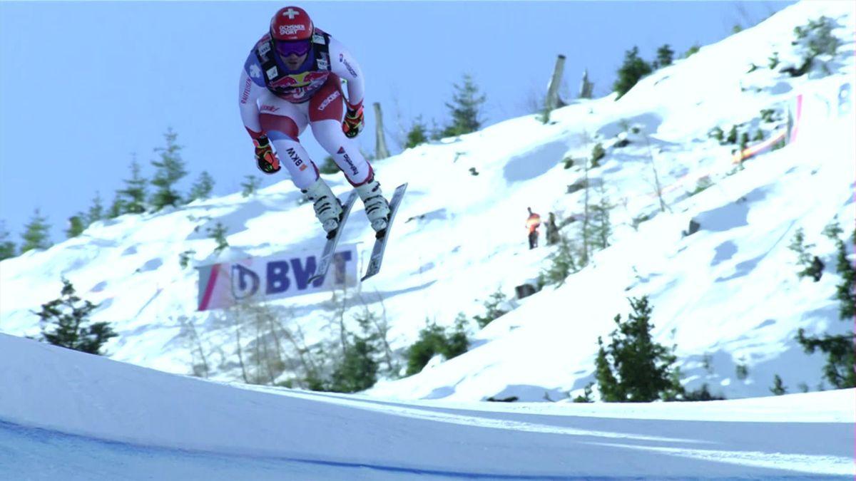 ALpine Skiing Kitzbuhel: Almost the perfect run by Beat Feuz with an impressive ski