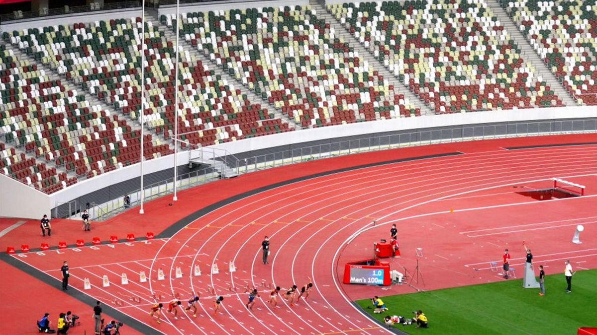 Olympische Atletiek test event in het National Stadium