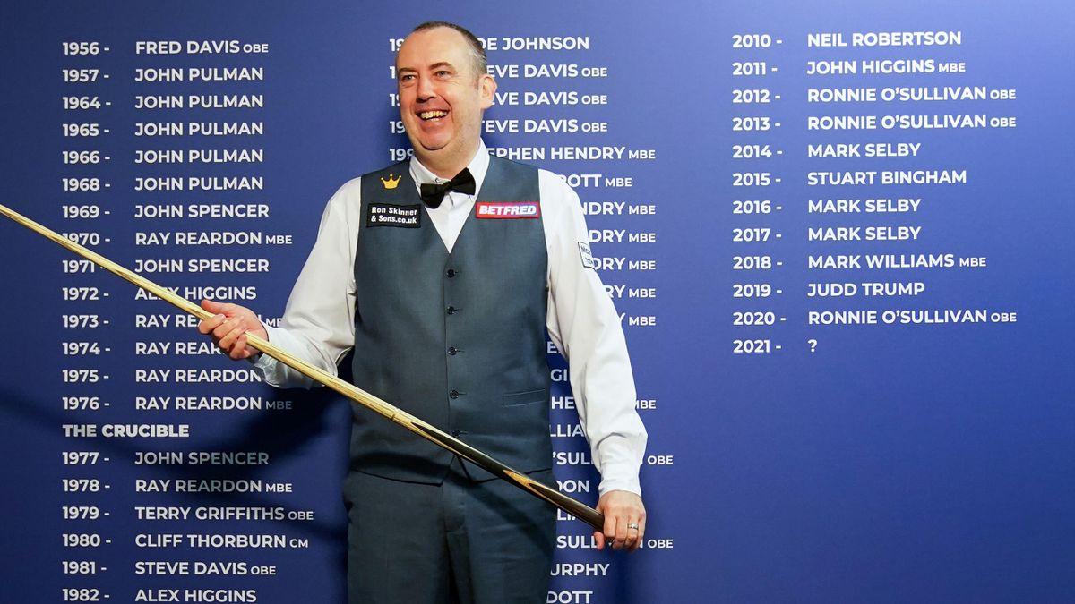 Sein Anstoß sorgte bei der Snooker-WM für viel Gelächter: Mark Williams