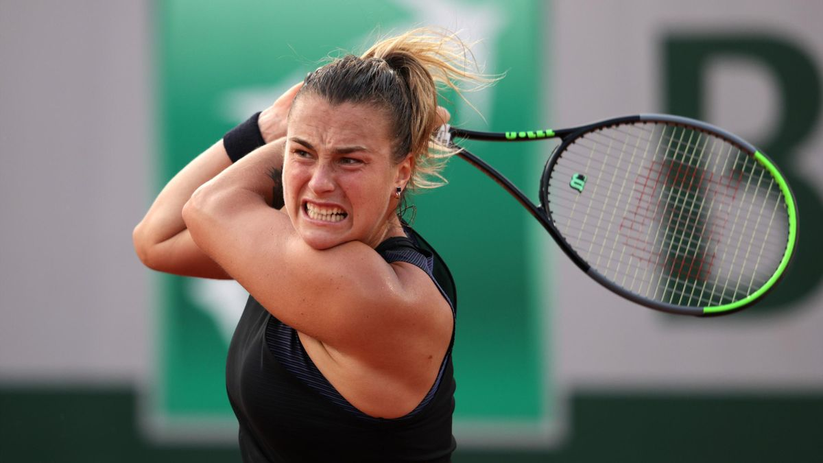 Aryna Sabalenka in action