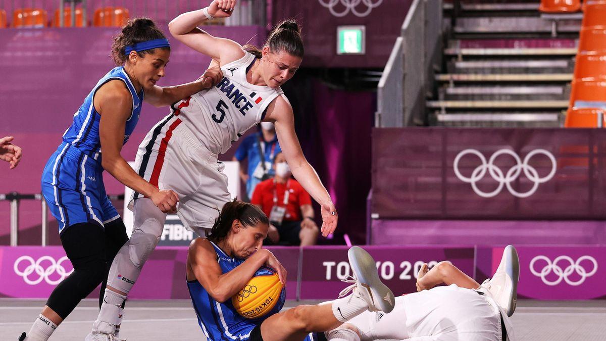 La France a battu l'Italie en basketball 3x3 à Tokyo