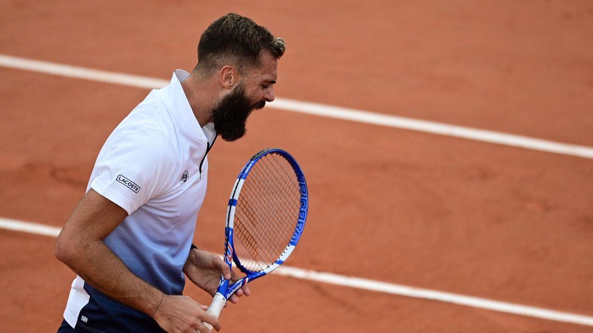 Benoit Paire lors de son match face à Federico Coria, à Roland-Garros